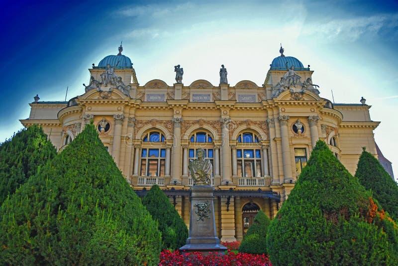 nationell teater av krakow royaltyfria foton