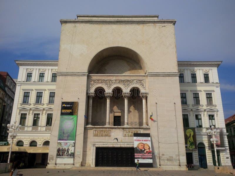 Nationell teater från Timisoara arkivbild