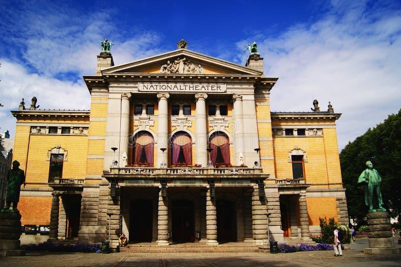 Nationell teater, Oslo royaltyfri foto