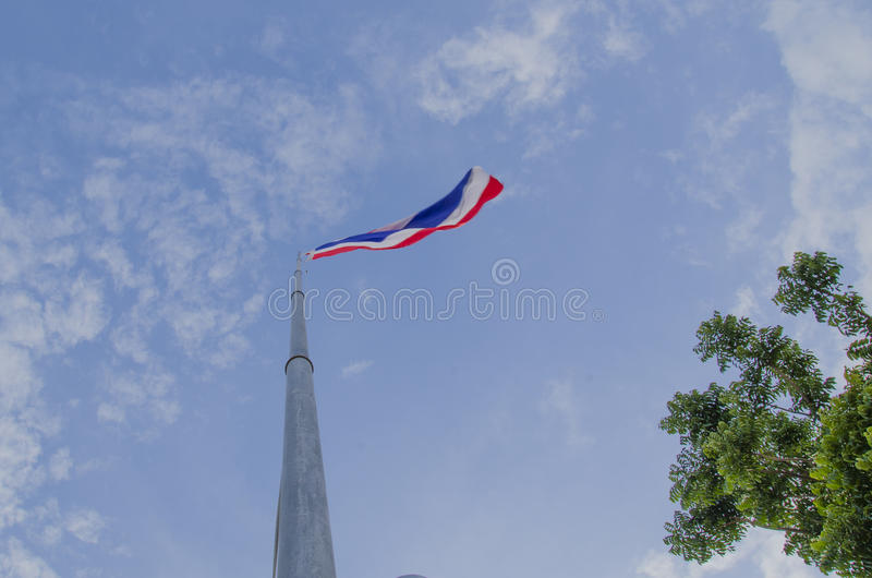 Nationell thailändsk flagga royaltyfria bilder