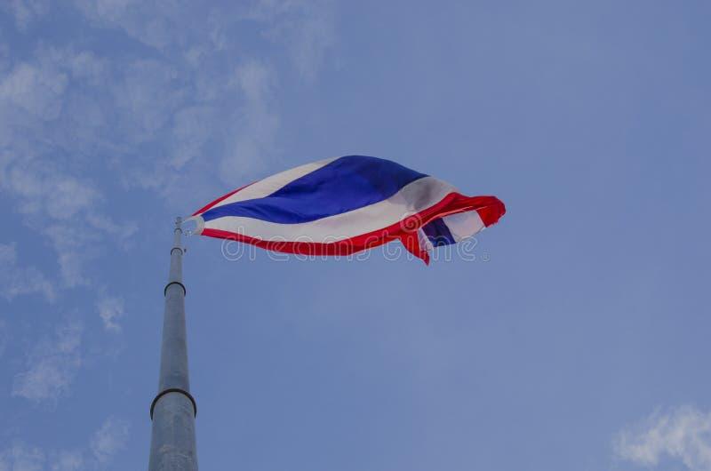 Nationell thailändsk flagga royaltyfria foton