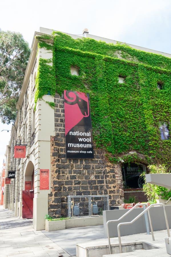 Nationell ullmuseumbyggnad i Geelong, i Australien royaltyfri bild