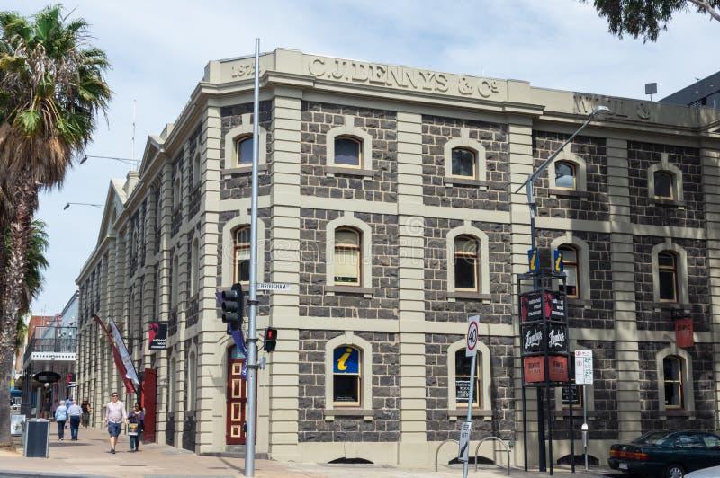 Nationell ullmuseumbyggnad i Geelong, i Australien arkivbilder