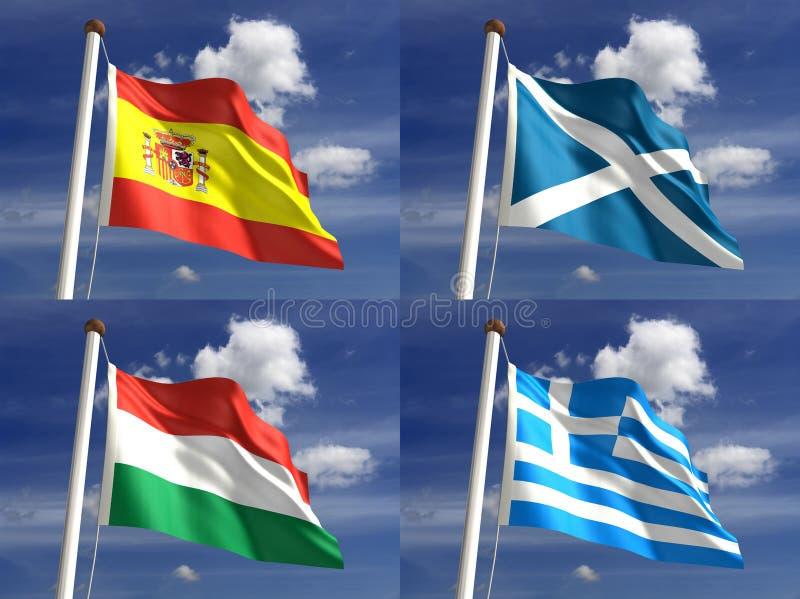 Nationella Flaggor Royaltyfri Bild