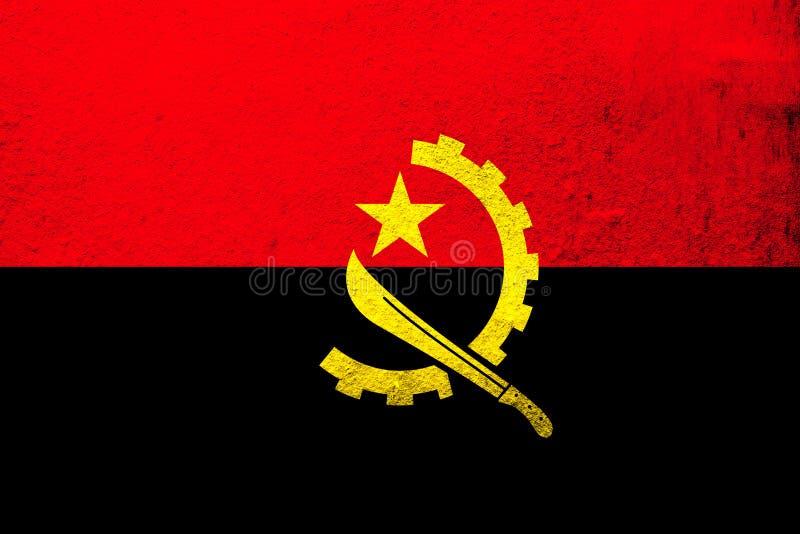 Nationella Republiken Angola Kan användas som en vykort vektor illustrationer