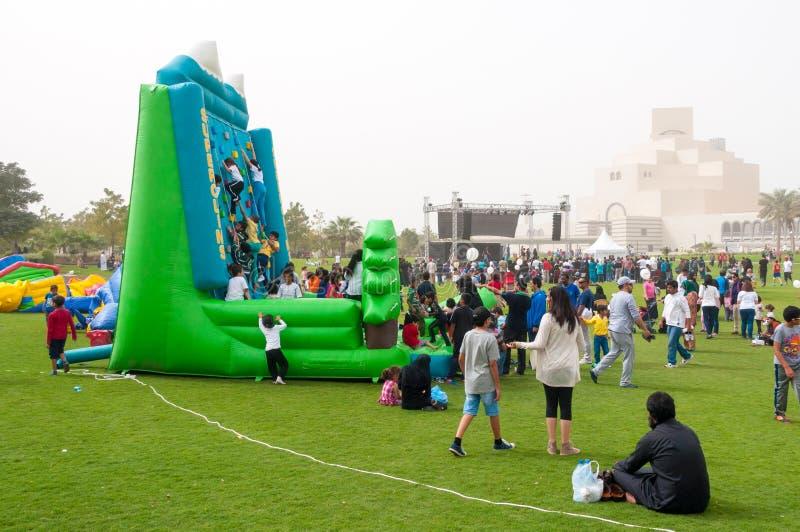 Nationella sportar dag, MIA Park, Doha, Qatar arkivfoto