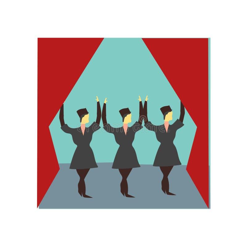 Nationellt dansa vektorvektortecken och symbol som isoleras på vit bakgrund, nationellt dansa vektorlogobegrepp vektor illustrationer