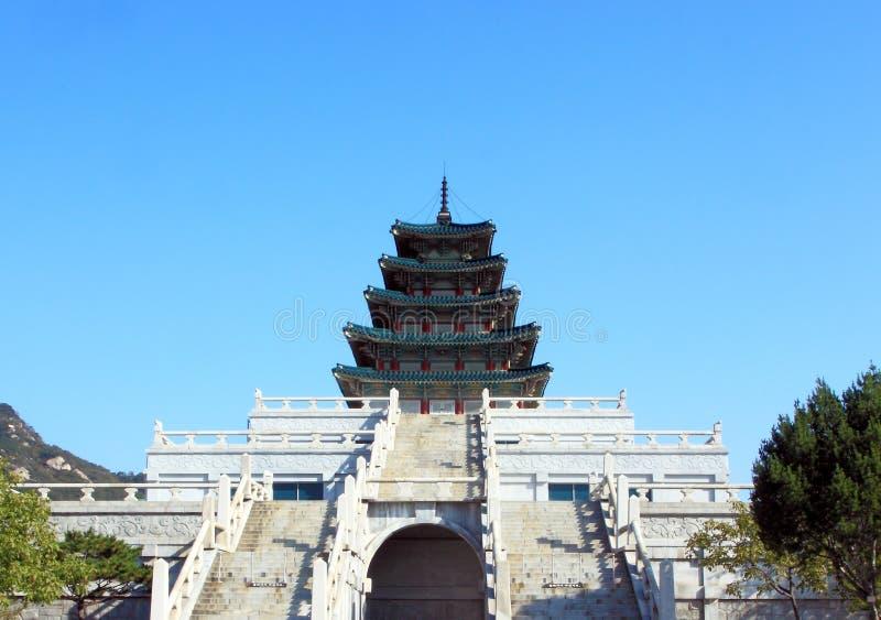 Nationellt folk museum av Korea, Seoul, Sydkorea royaltyfria bilder