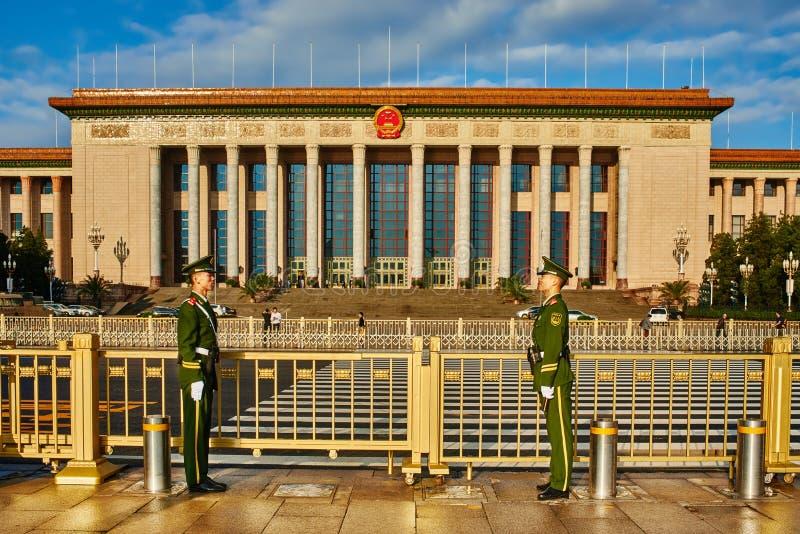 Nationellt folks kongress Beijin Kina arkivbilder