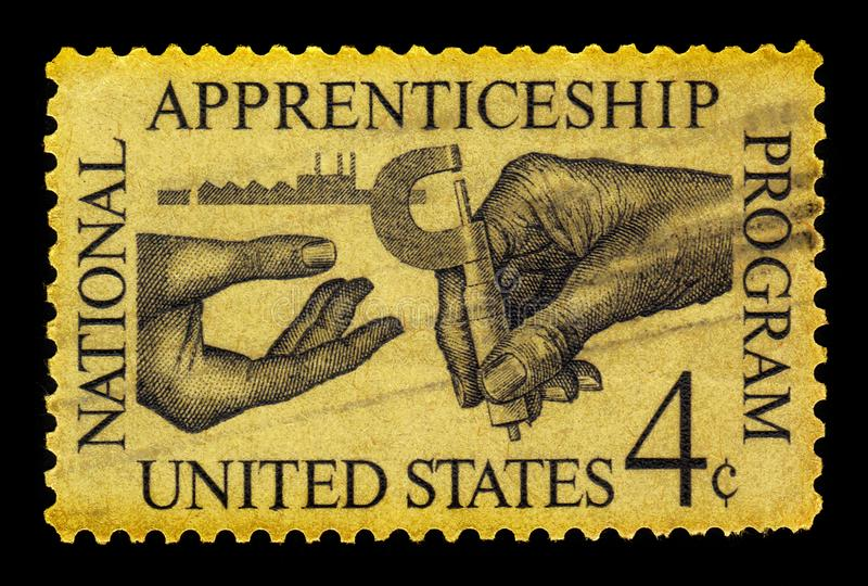 Nationellt lärlingskapprogram av USA royaltyfria foton