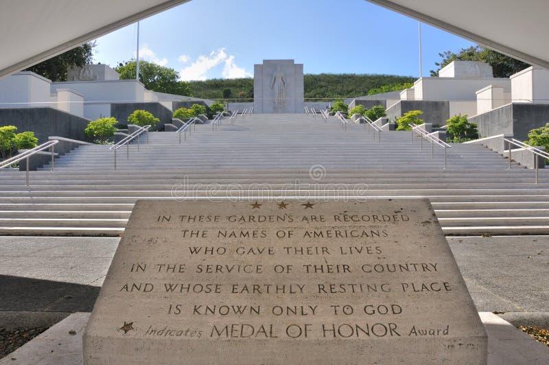 Nationellt minnes- Kyrkogård-Stillahavs- royaltyfri foto