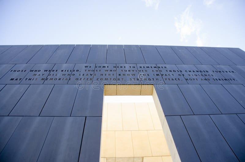 Nationellt minnesmärke & museum för oklahoma city arkivbild