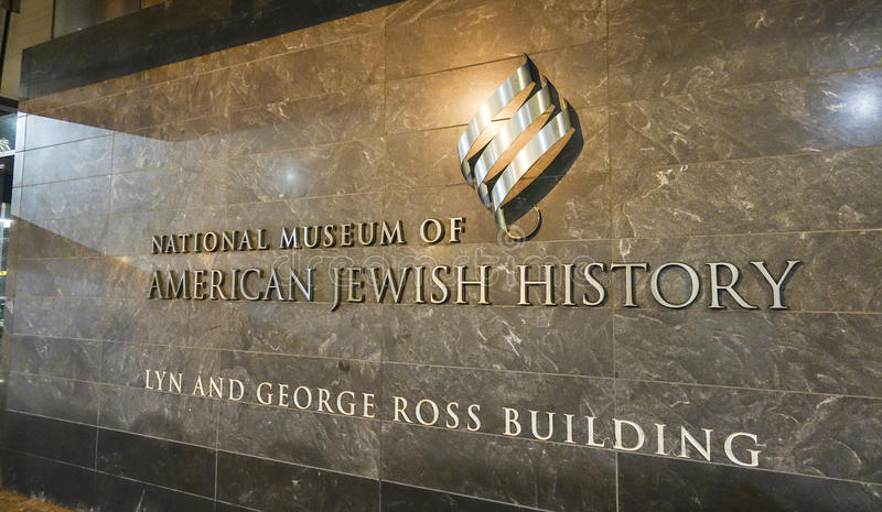Nationellt museum av amerikansk judisk historia - PHILADELPHIA - PENNSYLVANIA - APRIL 7, 2017 royaltyfria bilder