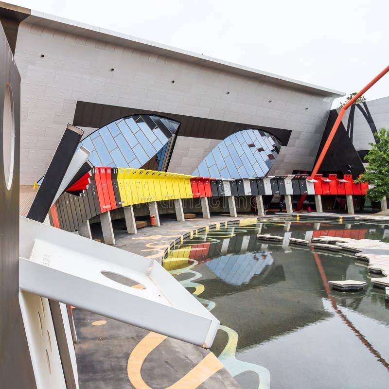 Nationellt museum av Australien, Canberra fotografering för bildbyråer