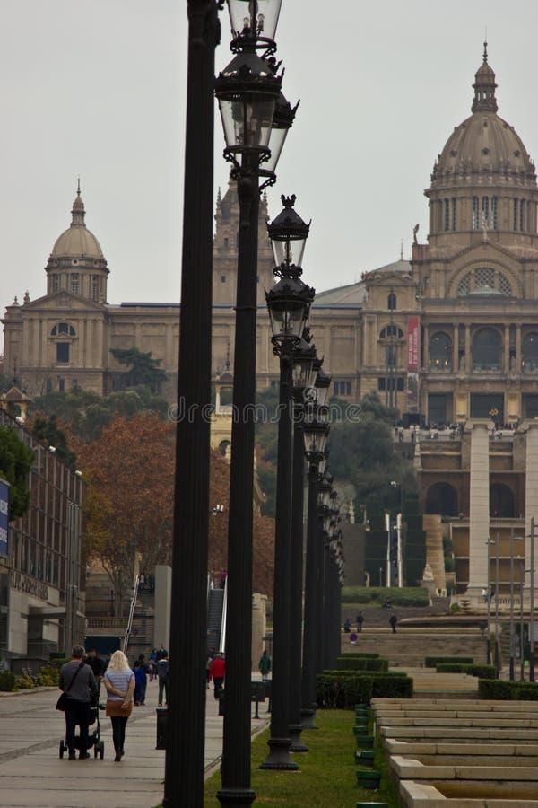 Nationellt museum av Catalunya, Barcelona, Spanien arkivbilder