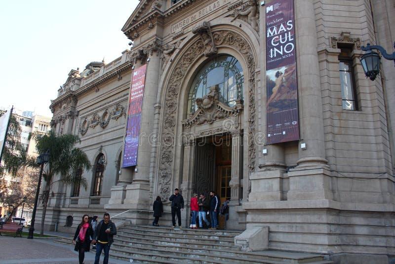 Nationellt museum av konster i Chile arkivbild
