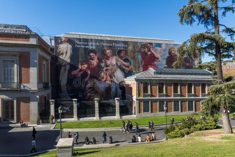 Nationellt museum av Pradoen i stad av Madrid, Spanien royaltyfria bilder