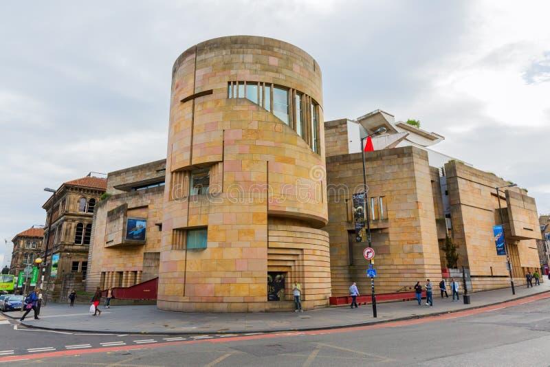 Nationellt museum av Skottland i Edinburg, UK arkivfoto