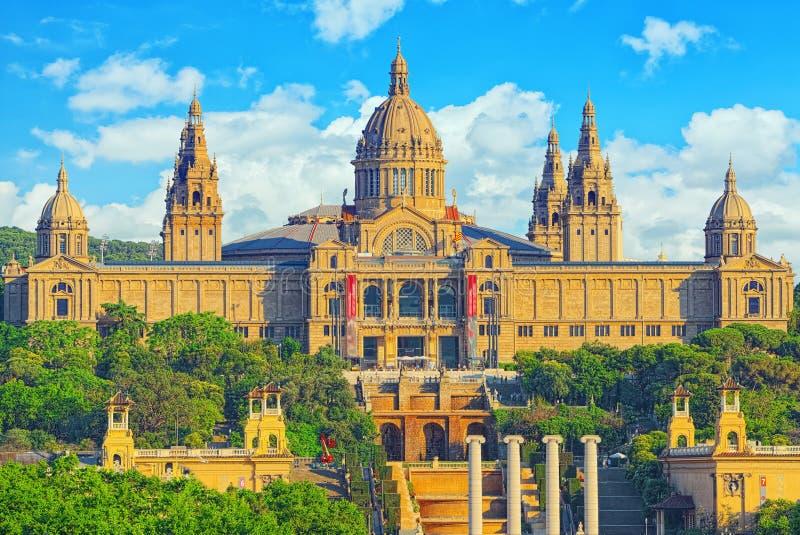 Nationellt museum i Barcelona Museu Nacional D Art de Catalunya arkivbilder