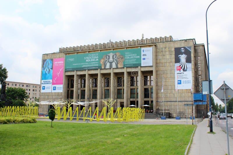 Nationellt museum i Krakow, Polen fotografering för bildbyråer