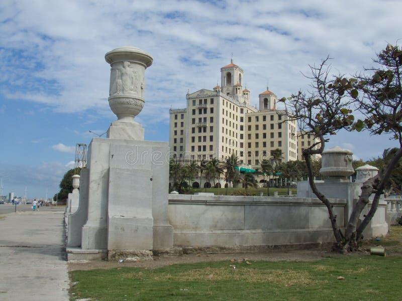 nationellt near för cuba hotellmalecon arkivfoto
