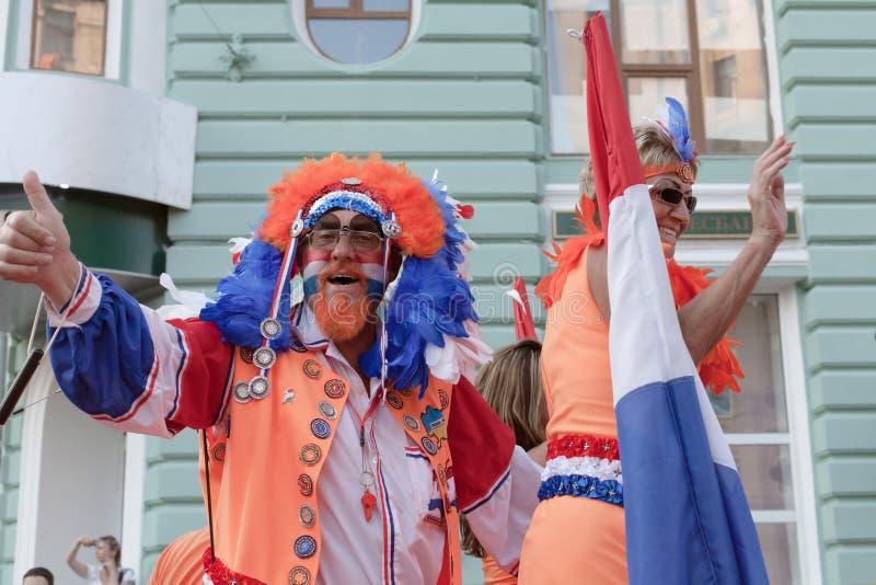 nationellt supporterlag för holländsk fotboll arkivfoto