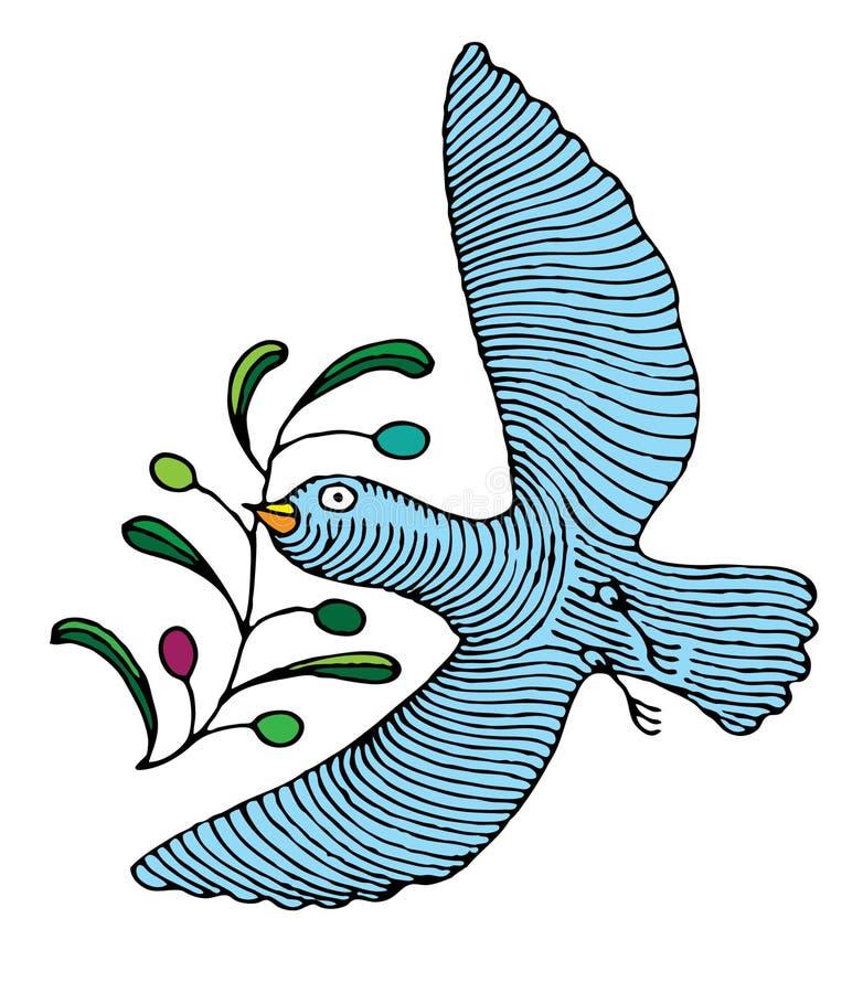 Nationen-amtliche Taube, die olivgrünes Br b trägt vektor abbildung