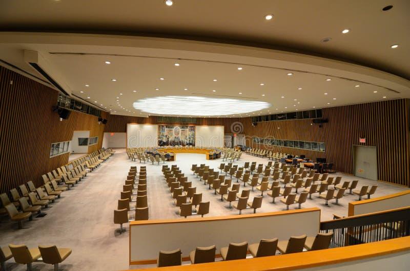Nationen-Sicherheitsrat-Raum stockbild