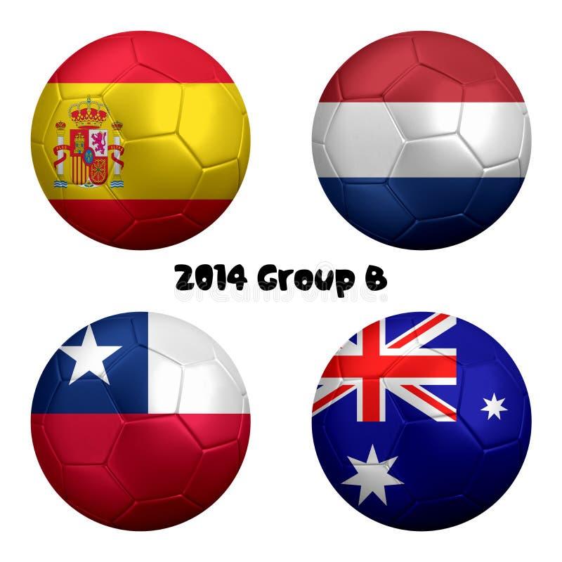 Nationer 2014 för fotbollmästerskapgrupp B vektor illustrationer