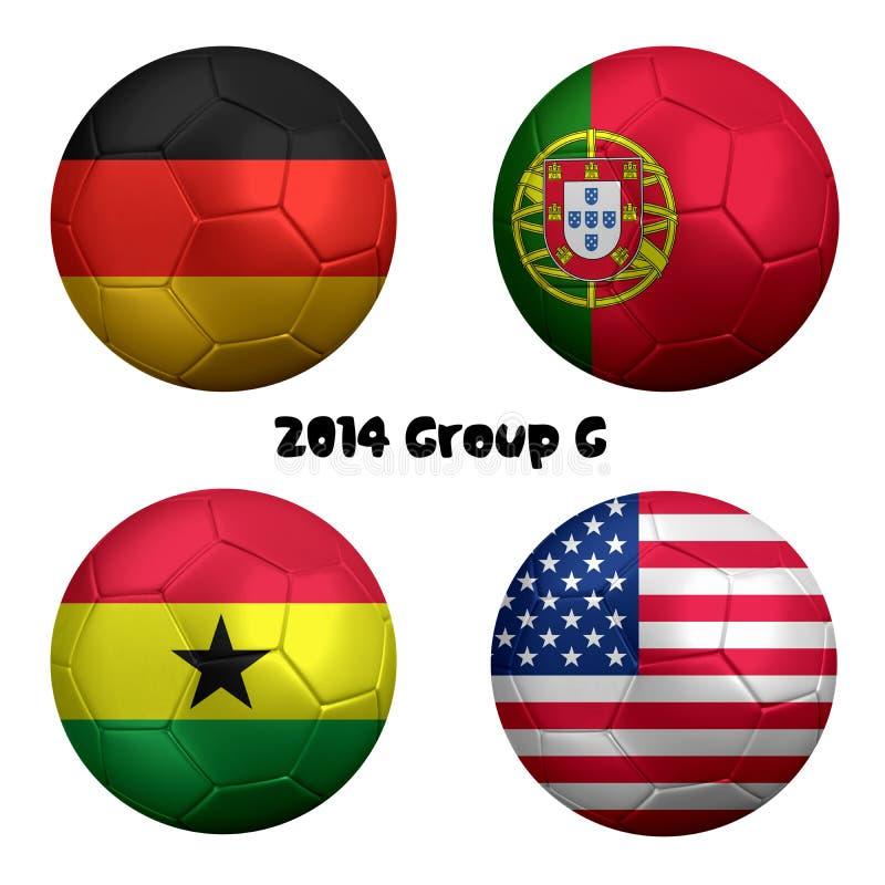 Nationer 2014 för G för grupp för FIFA världscupfotboll stock illustrationer
