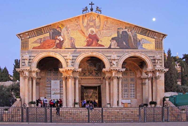 Nationer för kyrka allra i Jerusalem, Israel royaltyfri bild