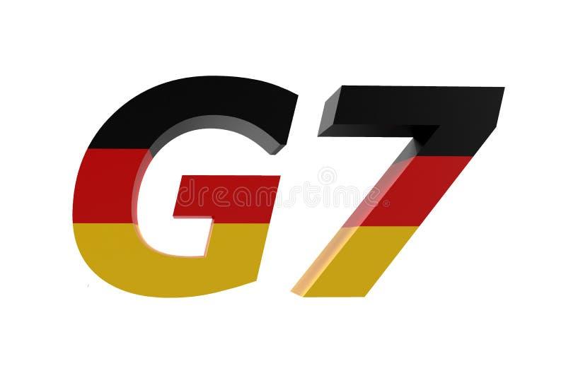 Nationer G7 i Tysklandbegrepp royaltyfri illustrationer