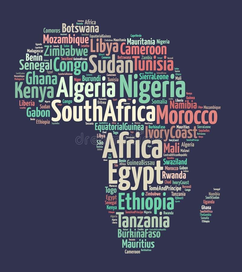 Nationer i Afrika vektor illustrationer