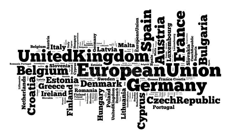 Nationer i europeisk union royaltyfri illustrationer