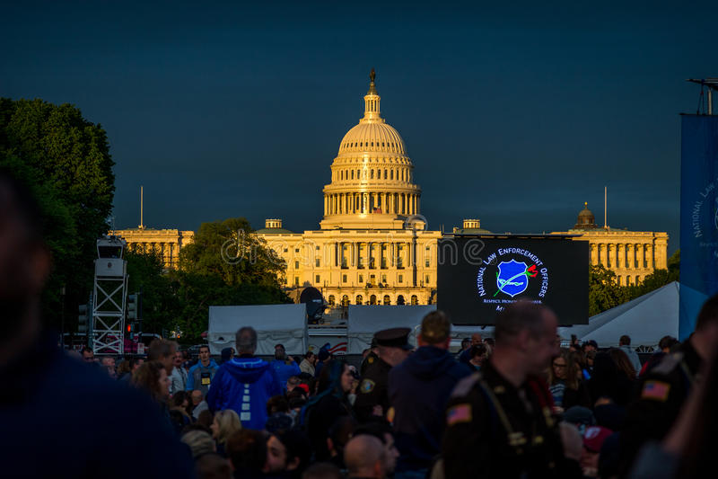 Nations capitales pendant la semaine de 2017 polices photos stock