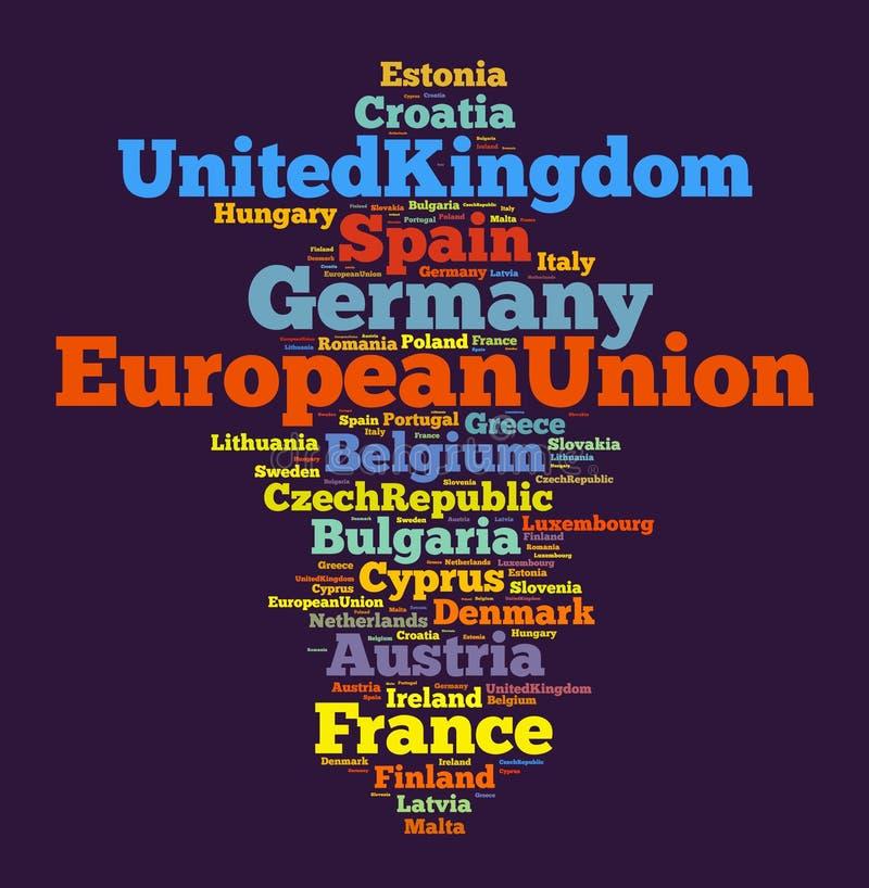 Nations dans l'Union européenne illustration stock