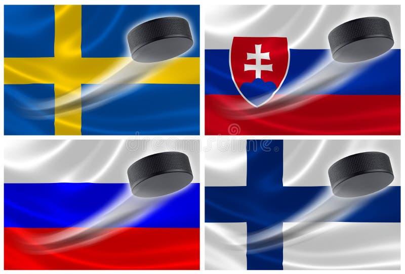 Nations de centrale électrique d'hockey de l'Europe illustration de vecteur