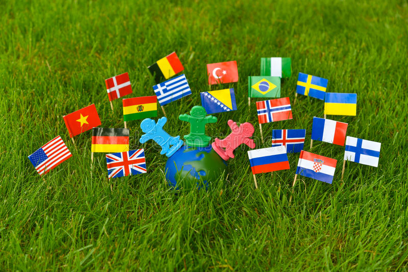 Nations of the world concept image. Concept image of different people or nations around the world. Save the world concept image stock image