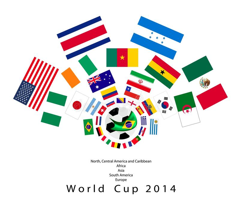 Download The 32 Nations In 2014 World Cup Editorial Photography - Image: 37527592