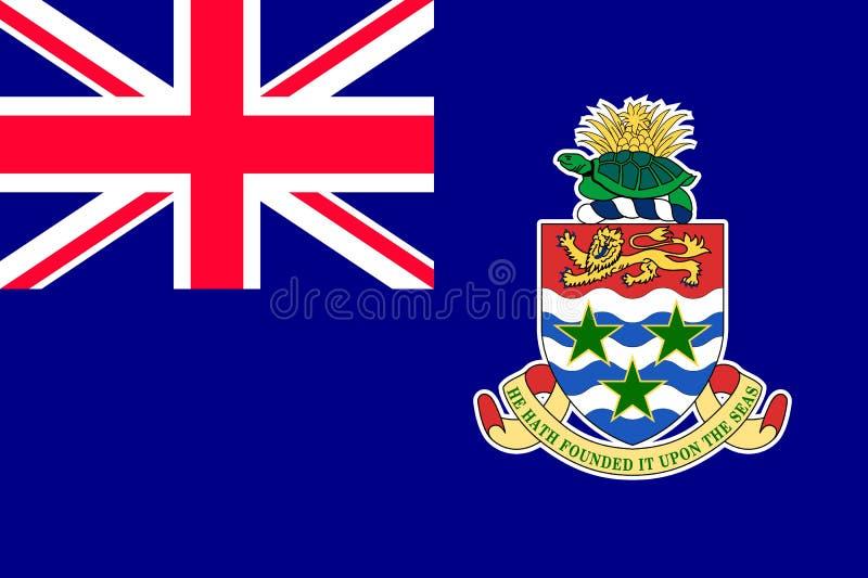 Nationsflagga av Cayman?arna stock illustrationer