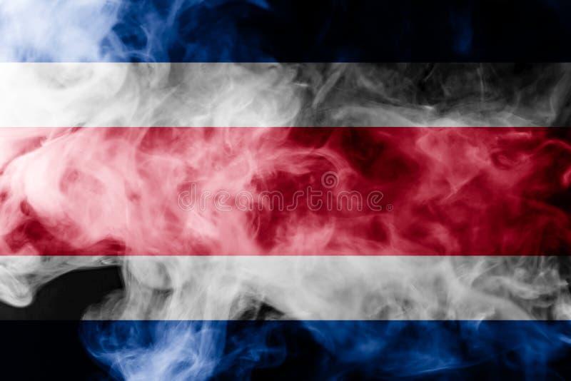 Nationsflagga av Costa Rica royaltyfri illustrationer