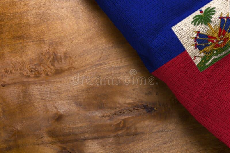 Nationsflagga av Haiti arkivbild