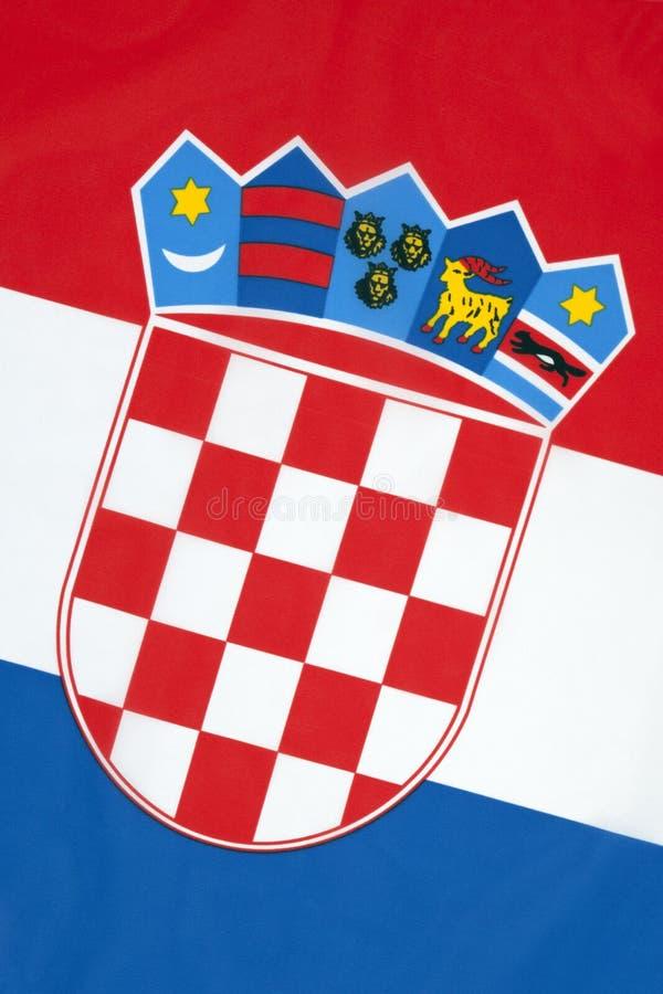 Nationsflagga av Kroatien arkivfoton
