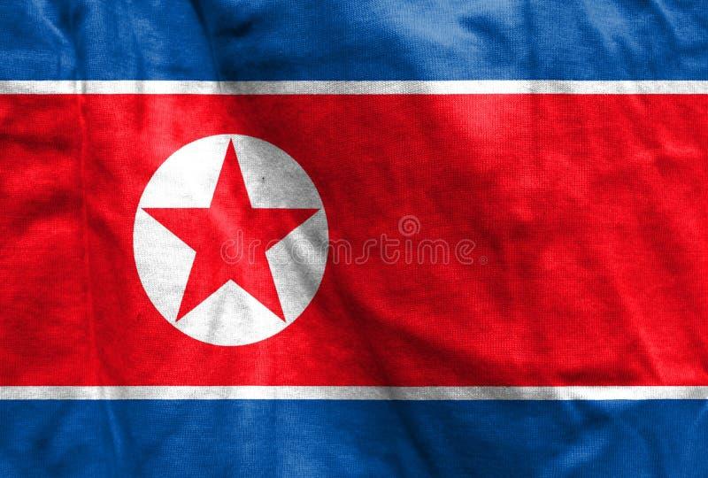 Nationsflagga av Nordkorea royaltyfria foton