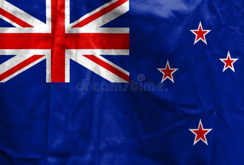 Nationsflagga av Nya Zeeland royaltyfri foto