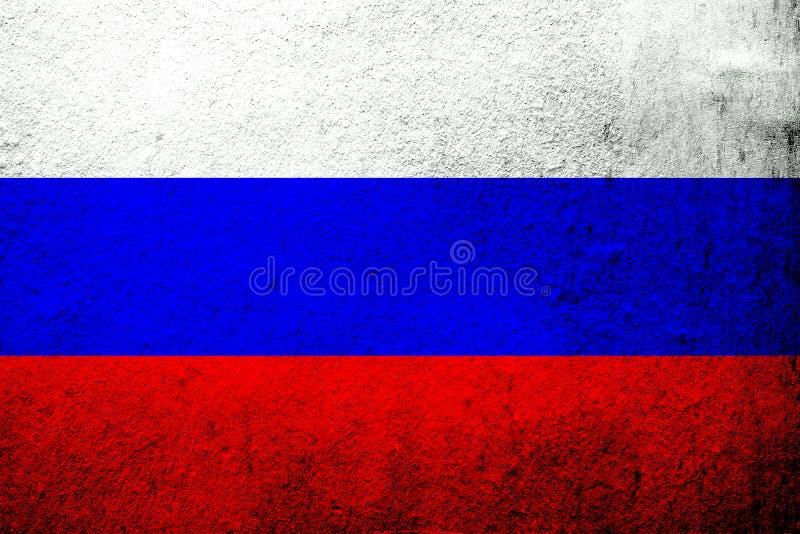 Nationsflagga av rysk federation Ryssland Kan användas som en vykort royaltyfri illustrationer