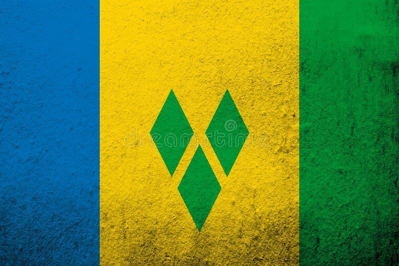 nationsflagga av Saint Vincent och Grenadinerna Kan användas som en vykort royaltyfri illustrationer