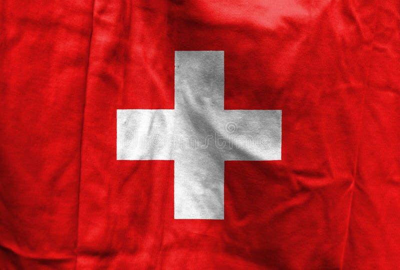 Nationsflagga av Schweiz royaltyfri fotografi