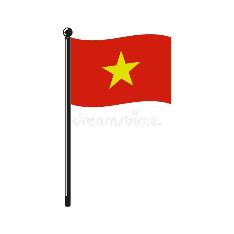 Nationsflagga av Socialistiska republiken Vietnam vektor illustrationer