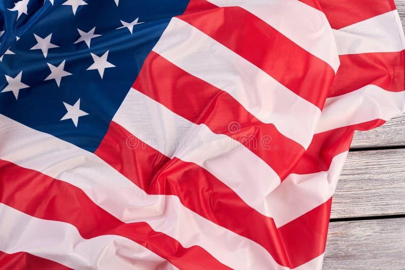 Nationsflagga av USA slutet upp arkivbild